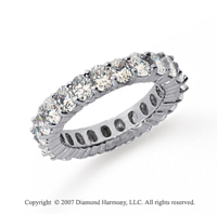 41/2 Carat Diamond Platinum Eternity Oval Prong Band
