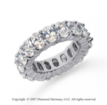 9 Carat Diamond 14k White Gold Eternity Oval Prong Band