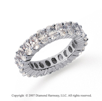 5 1/2 Carat Diamond 18k White Gold Eternity Oval Prong Band