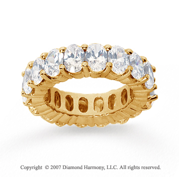 9 Carat Diamond 14k Yellow Gold Eternity Oval Prong Band