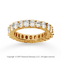4 1/2 Carat Diamond 18k Yellow Gold Eternity Oval Prong Band