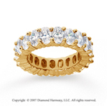 6 1/2 Carat Diamond 18k Yellow Gold Eternity Oval Prong Band