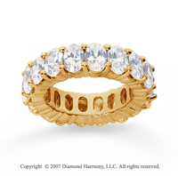 9 Carat Diamond 18k Yellow Gold Eternity Oval Prong Band