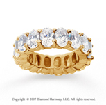 12 Carat Diamond 18k Yellow Gold Eternity Oval Prong Band
