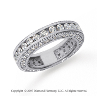 2 Carat Diamond 14k White Gold Eternity Prong Pave Band