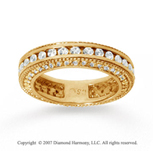1 1/2 Carat Diamond 14k Yellow Gold Eternity Prong Pave Band