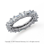 3  Carat Diamond 14k White Gold Eternity Round Baguette Band