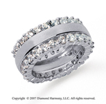 2 1/2 Carat Diamond 14k White Gold Eternity Round Prong Band