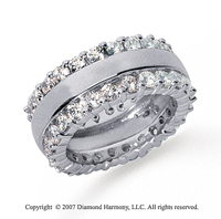 2 1/2 Carat Diamond 18k White Gold Eternity Round Prong Band