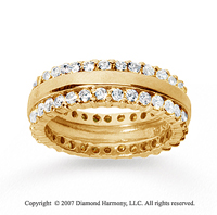 2 Carat Diamond 18k Yellow Gold Eternity Prong Band