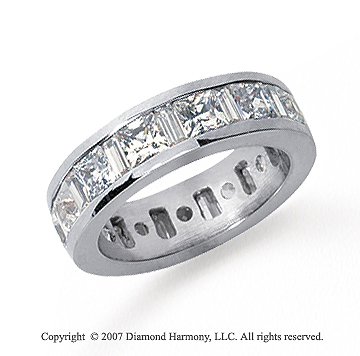 gem platinum band cut eternity diamond bands baguette