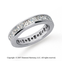 2 Carat Diamond 14k  W Gold Princess and Baguette Eternity Band