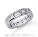 3 1/2 Carat Diamond 14k  W Gold Princess & Baguette Eternity Band
