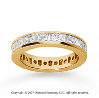 2 Carat Diamond 18k  Y Gold Princess and Baguette Eternity Band