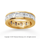 4 Carat Diamond 18k  Y Gold Princess and Baguette Eternity Band