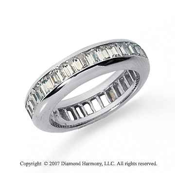 3 Carat Diamond Platinum Eternity Baguette Channel Band