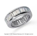 5 Carat Diamond Platinum Eternity Baguette Channel Band