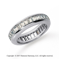3 Carat Diamond 14k White Gold Eternity Baguette Channel Band