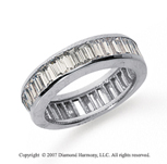 2 1/2 Carat Diamond 18k W Gold Eternity Baguette Channel Band