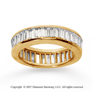 2 1/2 Carat Diamond 14k Yellow Gold Eternity Baguette Channel Band