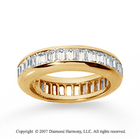 3 Carat Diamond 14k Yellow Gold Eternity Baguette Channel Band