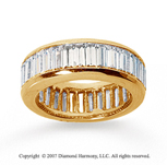 5 Carat Diamond 18k Y Gold Eternity Baguette Channel Band