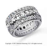 5 Carat Diamond Platinum Eternity Round Princess Band