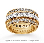 5 Carat Diamond 14k Yellow Gold Eternity Round Princess Band