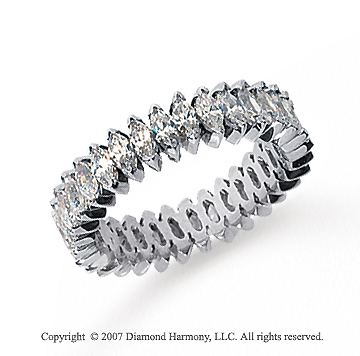 3 Carat Diamond Platinum Marquise Eternity Band