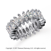 4 1/2 Carat Diamond Platinum Marquise Eternity Band