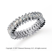 3 Carat Diamond 14k White Gold Marquise Eternity Band