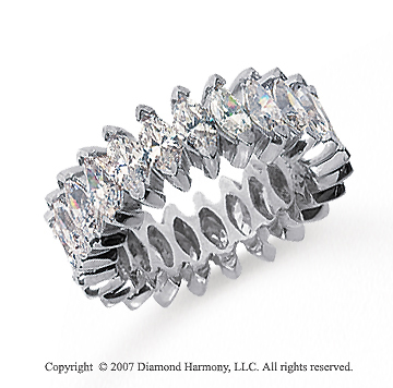4 1/2 Carat Diamond 14k White Gold Marquise Eternity Band