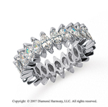 5 1/2 Carat Diamond 18k White Gold Marquise Eternity Band