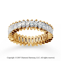 3 Carat Diamond 14k Yellow Gold Marquise Eternity Band