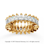 5 1/2 Carat Diamond 14k Yellow Gold Marquise Eternity Band