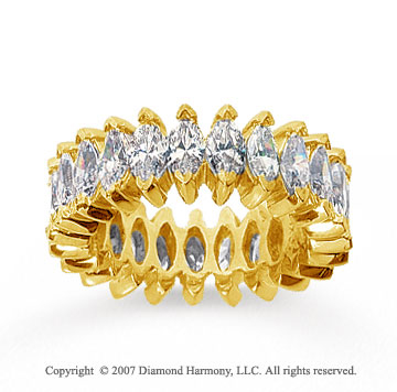 4 1/2 Carat Diamond 18k Yellow Gold Marquise Eternity Band