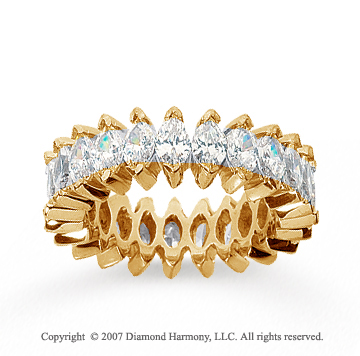5 1/2 Carat Diamond 18k Yellow Gold Marquise Eternity Band