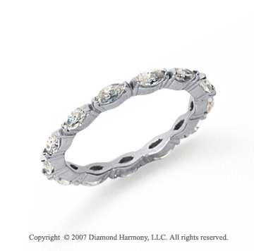 1 Carat Diamond Platinum Eternity Marquise Band