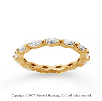 1 Carat Diamond 14k Yellow Gold Eternity Marquise Band
