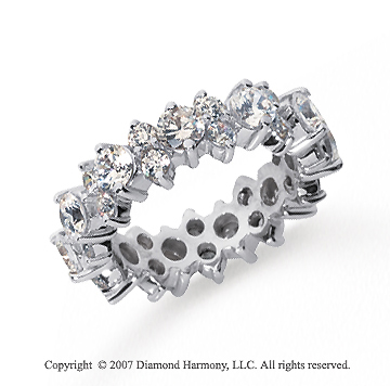 3 Carat Diamond Platinum Eternity Round Prong Band