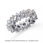 4 Carat Diamond Platinum Eternity Round Prong Band