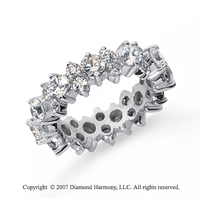 3 Carat Diamond 18k White Gold Eternity Round Prong Band