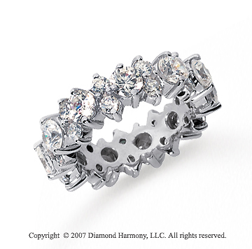 4 Carat Diamond 18k White Gold Eternity Round Prong Band