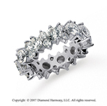 4 1/2 Carat Diamond 18k White Gold Eternity Round Prong Band