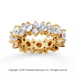 4 Carat Diamond 14k Yellow Gold Eternity Round Prong Band
