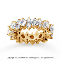 4 Carat Diamond 18k Yellow Gold Eternity Round Prong Band