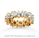 4 1/2  Carat Diamond 18k Yellow Gold Eternity Round Prong Band