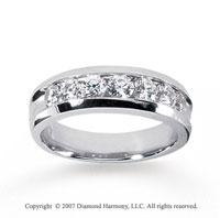 14k White Gold Lustrous 1.40 Carat Men's Diamond Ring