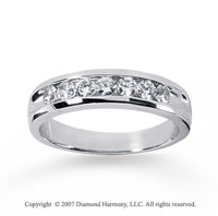 14k White Gold Slick Channel 1.05 Carat Diamond Ring