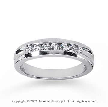 14k White Gold Sleek Trendy 1/2 Carat Men's Diamond Ring